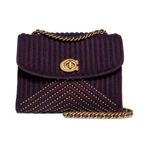 Coach | Parker Purple Velvet Crossbody Bag - E94